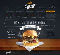 Bernies Burger Bus Site Launch by Make & Matter