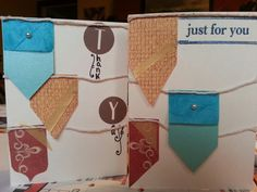 Two versions of a medival flag card... not very medival but cute and gender neutral!