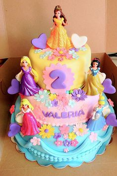 Inspiration Picture of Disney Princess Birthday Cake . Disney Princess Birthday Cake Valerias Disney Princess Cake Icing Sugar Dust In 2018 Disney Princess Kuchen, Disney Princess Birthday Cakes, Cinderella Birthday, Themed Birthday Cakes, Disney Birthday, Birthday Cake Girls, Birthday Parties, 3rd Birthday, Birthday Ideas
