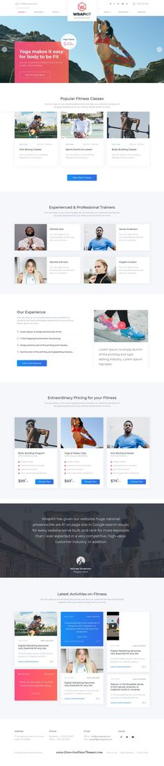 WrapKit is clean and modern design responsive multipurpose HTML bootstrap template for #fitness centers website with 25+ niche homepage layouts to live preview & download click on Visit  #bootstrapthemes