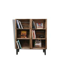 diy deco meuble simple a faire avec des cagettes en bois et caisses de vin etag re meuble de. Black Bedroom Furniture Sets. Home Design Ideas