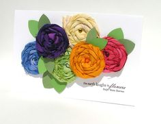 Dana Warren card including a flower how-to