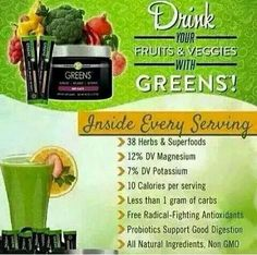 Today only! Only 3 people can get my price! Greens - Berry is an energizing, detoxifying, and alkalizing blend of 38 herbs and nutrient-rich superfoods that provides vitamins, minerals, phytonutrients, and enzymes you need for your best health. The nutrients found in Greens - Berry are at their highest naturally occurring, bioactive, bioavailable form to ensure maximum absorption by your body. The natural blend of ingredients in Greens - Berry, including an acidity-fighting combination of…