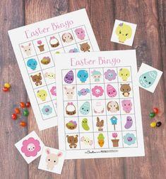Cute Easter bingo family game - free printable // Húsvéti bingó - társasjáték gyerekeknek (letölthető,nyomtatható) // Mindy - craft tutorial collection // #crafts #DIY #craftTutorial #tutorial #easter #easterCrafts #DIYEaster