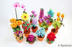 Sparset+3x+Häkelanleitung+Maxi+Blume+im+Topf+von+Renirumis+Kleinigkeiten+auf+DaWanda.com