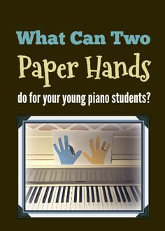 A whole bunch of ways you can use two paper hands to help your beginning piano students have a good week of practice Vocal Lessons, Singing Lessons, Music Lessons, Singing Tips, Piano Lessons For Kids, Music Lesson Plans, Piano Teaching, Teaching Resources, Music Activities