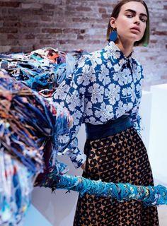 Publication: Vogue US August 2017 Model: Birgit Kos Photographer: Mario Testino Fashion Editor: Tonne Goodman Hair: Odile Gilbert Make Up: Stephane Marais PART I