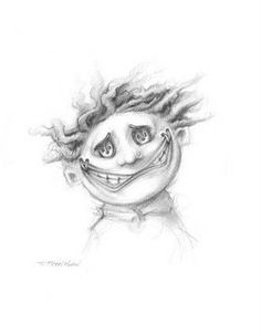 He made a long face and mother didn't like it. Living Lines Library: Coraline - Character Design Creepy Drawings, Dark Art Drawings, Amazing Drawings, Coraline Drawing, Coraline Tattoo, Coraline Characters, Tim Burton Characters, Coraline And Wybie, Coraline Aesthetic