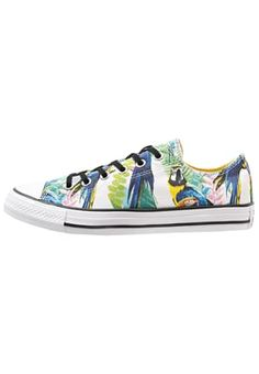 Converse All Stars with tropical parrot print