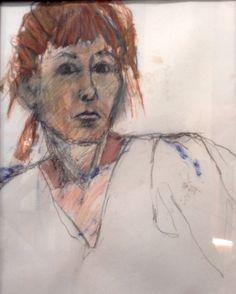 'self-portrait' by franny golden. pastel on paper , 62 x 45 cm