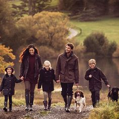 A family that wears Barbour together, stays together
