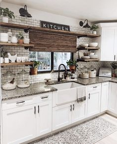 Check out our full collection of farmhouse sinks today at sinkology.com Farmhouse Kitchen Inspiration, Farmhouse Sink Kitchen, Kitchen Redo, Rustic Kitchen, Kitchen Remodel, Farmhouse Design, Kitchen Ideas, Cuisines Diy, Best Kitchen Designs