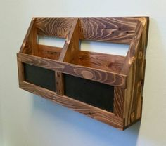 Reclaimed Pallet Wood 2 Pocket Organizer with by AJSCreationsCo