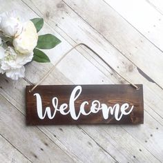 Perfect Welcome Sign For Front Door   Wreath Not Included  Outdoor Sign   Wood Sign    Home Decor   Front Yard Sign   Brown Sign   Wreath Sign