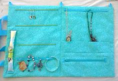 Travel Jewelry Roll Hummingbirds Bridesmaids by SomethingSeaBlue, $55.00