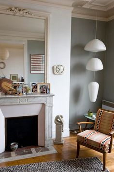 Catherine Taret Sneak Peek via Design Sponge...there's just something about that chair. Love it.
