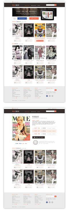 Magbox Magazine by Alper Akyüz, via Behance