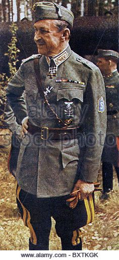 CARL GUSTAV MANNERHEIM (1867-1951) as Commander in Chief of Finland's Defence Forces about 1942 - Stock Image