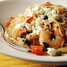 Mediterranean shrimp and pasta!