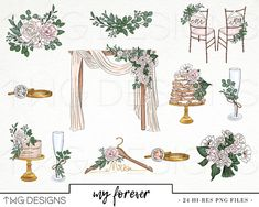 Wedding Bridal Fashion Girl Clip Art Watercolor Clipart PNG Eucalyptus Hand Drawn Babe Illustration You can find different rumors about … Decoration Evenementielle, Stage Decorations, Diy Wedding Decorations, Wedding Stage, Chic Wedding, Rustic Wedding, Wedding Mandap, Wedding Receptions, Watercolor Clipart