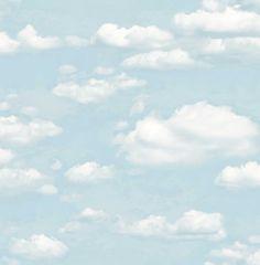 Colours Clouds Chalk Blue Wallpaper | Departments | DIY at B&Q