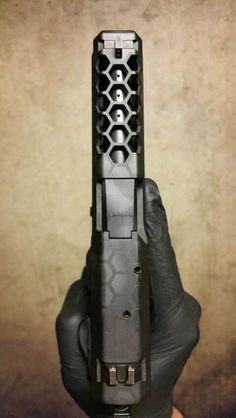 Glock with hexagonal cut slide and cerakote finish This is so beautiful...i can't even...