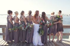 Pin for Later: 40+ Adorable Photos You Need to Take With Your Bridesmaids Looking Forward to the Future See the full wedding here. Photo by Dana Laymon Photography