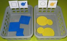 Act Math, Task Boxes, Tot School, Preschool Math, Color Shapes, Teaching Materials, Working With Children, Special Education, Early Childhood