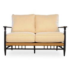 Lloyd Flanders Low Country Loveseat with Cushions Fabric: Canvas Spa, Sunbrella