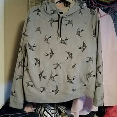 Swallow Hoodie Super soft and so cute, perfect with skinnies and a scarf on a wintery day. Forever 21 Sweaters