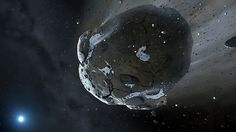 Asteroids should be colonized or used as transport to planets, Russian scientists say ___________ AFP Photo / Image copyright Mark A. Garlick, space-art.co.uk, The University of Warwick and The University of Cambridge