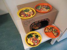 Hoeken thema eet smakelijk Restaurant Themes, Pizza Restaurant, Kids Craft Box, Crafts For Kids, Preschool Learning Activities, Building For Kids, Pizza Party, Dramatic Play, Puzzles For Kids