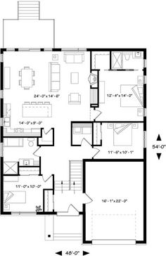 Ranch Style House Plans 1437 Square Foot Home 1 Story 3