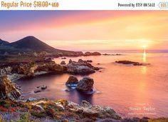 Big Sur Print Golden Coast Sunset California by SusanTaylorPhoto