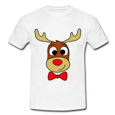Camiseta de corte clásico para hombres, 100% algodón, marca: B&C - Ideal para estas fechas navideñas.   #mycshop #mycshopspreadshirt #rudolf #reno  #fasionboy #navidad #christmas #camisetahombre #tshirtman #christmasshirt