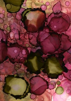 (burgundy and pink) Abstract Floral by Andrea Pramuk Alcohol Ink Painting, Alcohol Ink Art, Marsala, Illustrations, Illustration Art, Bordeaux, Shades Of Burgundy, Pink Wall Art, Art Plastique