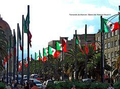 Banderas al aire... Flags in the air...