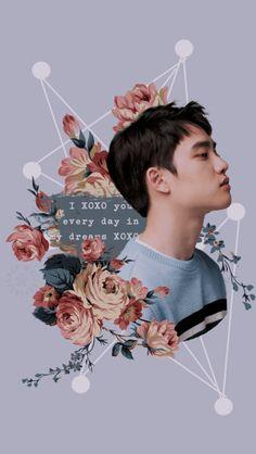 Trendy Ideas For Exo Aesthetic Wallpaper Purple Kyungsoo, Exo Chanyeol, Baekhyun Hot, Picsart, D O Exo, Inspiration Wand, Exo Music, Baekhyun Wallpaper, Exo Lockscreen