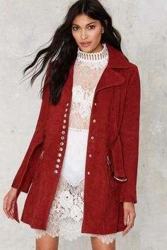 Nasty Gal The Kids are Alright Suede Coat - What's New : Clothes