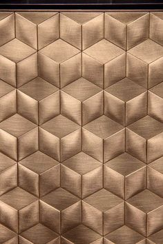 Ethnic Chic presents the highlights of Milan Design Week Check the after-impression of Salone del Mobile at the Fiera. Wall Patterns, Textures Patterns, 3d Wall Panels, Wall Finishes, Wall Cladding, Interior Walls, Interior Design, Wall Treatments, Textured Walls