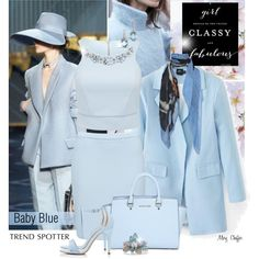 Spring Trends - Baby Blue by mcheffer on Polyvore featuring polyvore, fashion, style, Forever New, MICHAEL Michael Kors, Vanity Her, Alexis Bittar, Maison Passage and Chanel