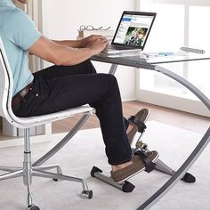 Stamina InStride Folding Pedal Exerciser at Brookstone—Buy Now! Desk Workout, No Equipment Workout, Home Office, Office Decor, Smart Office, Fitness Tips, Fitness Gear, Cool Stuff, Stuff To Buy