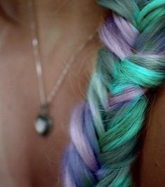 Mermaid... Colored Hair Chalk - Temporary Color Pastels, Pick Your Color - Hipster Fad. $4.00, via Etsy.
