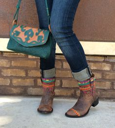 Perfect pair! Leaders in Leather handbag and our new Johnny Ringo Sagrada Collection boot Style# JRS806-11B.  Southern Thread Austin, TX.