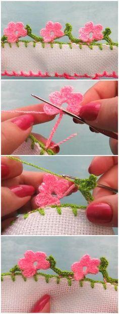 Crochet Flowers Edging
