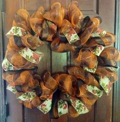fall deco mesh wreaths | Fall Deco Mesh Wreath
