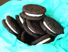 a recipe for homemade oreos that is a little more homemade than the cakebox version :)