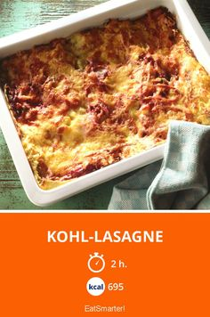 Kohl-Lasagne   Keine Lust auf Fleisch? Aber Appetit auf Lasagne?  Das geht mit diesem tollen Rezept!