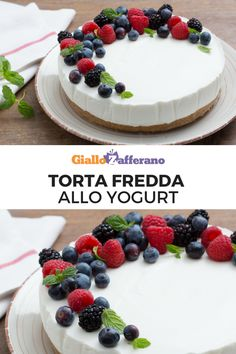 Torta fredda veloce allo yogurt: senza forno e pronta in poco tempo! Il dolce estivo per eccellenza da preparare con lo yogurt che più ti piace.  #giallozafferano #video #videricetta #cake #senzacottura #senzaforno #light #summerrecipes #yogurt   [easy no bake yogurt cake] Delicious Cookie Recipes, Yummy Cookies, Sweet Recipes, Dessert Recipes, Frozen Cheesecake, Cheesecake Recipes, Yogurt Cake, Sweet Tarts, Holiday Baking