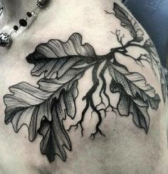 Oak tree tattoo